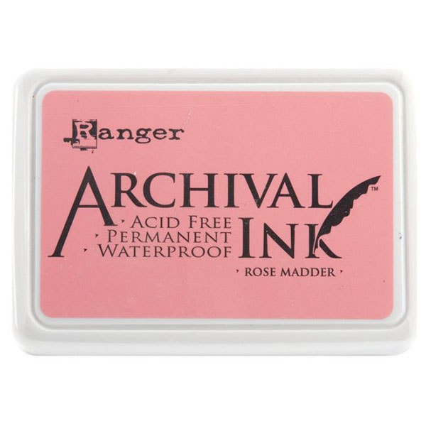 Ranger Archival Ink Pad - Rose Madder