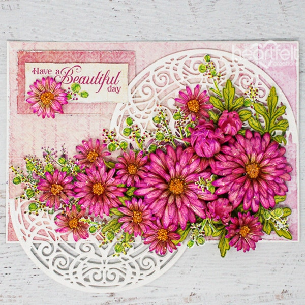Wild Aster Cling Stamp Set