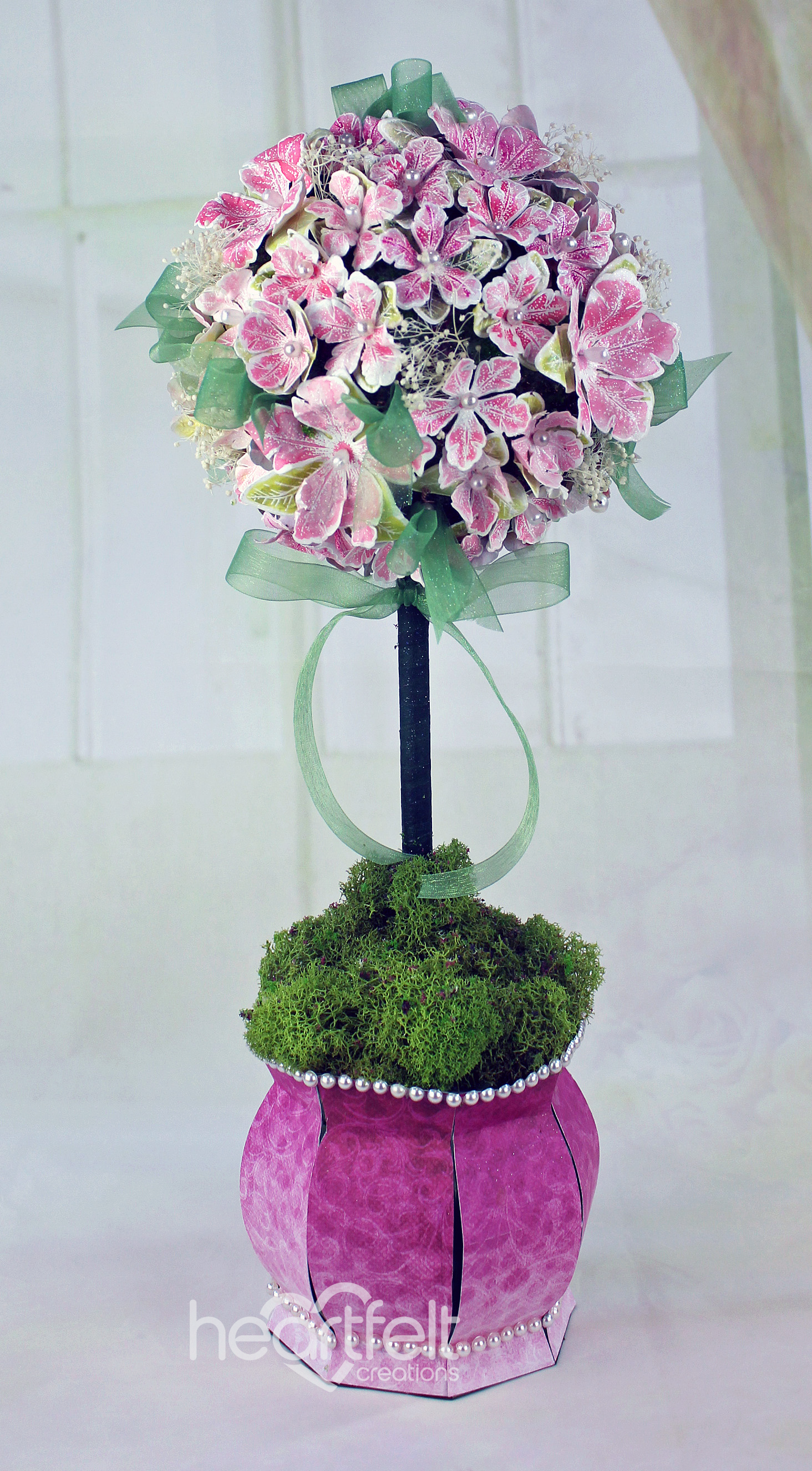 Gallery petunia floral topiary heartfelt creations see a close up view of this topiary create the urn from thank you for the music svg file here i used paper from the classic petunia paper collection mightylinksfo