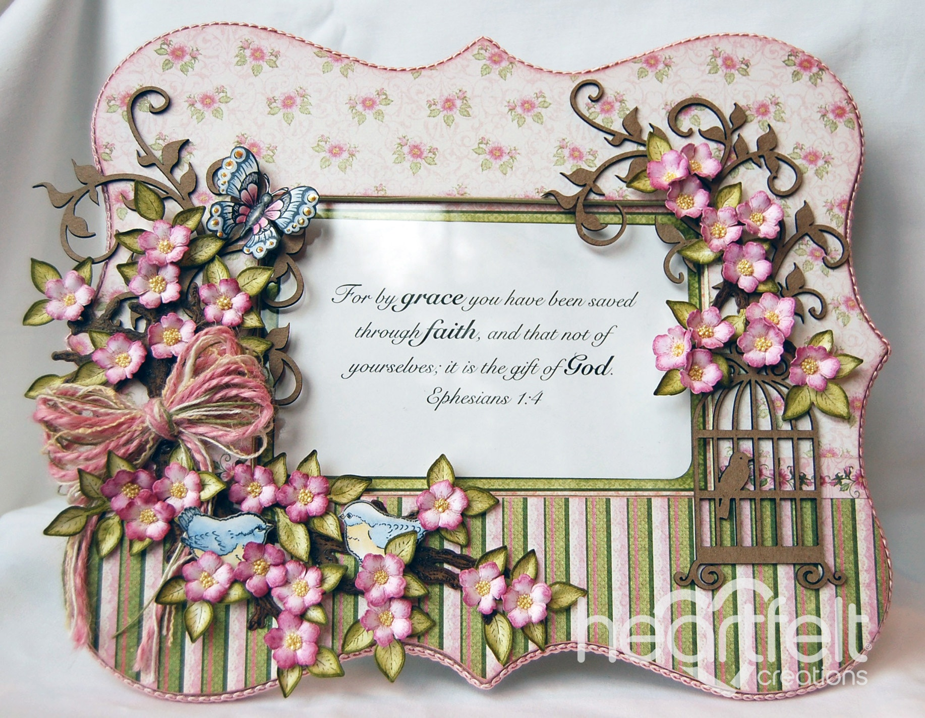 Gallery | Birds And Blooms Inspirational Frame - Heartfelt Creations