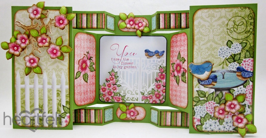 Gallery Birds And Blooms Tri Fold Heartfelt Creations