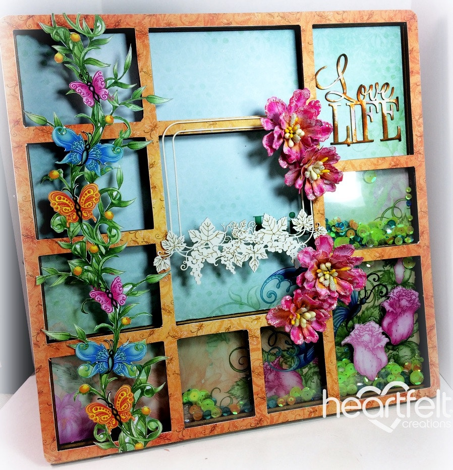 20 fun butterfly dreams card ideas heartfelt creations to create this decorative frame you will cover the backdrop and frame front with your patterned paper by carefully cutting it to the shape jeuxipadfo Gallery