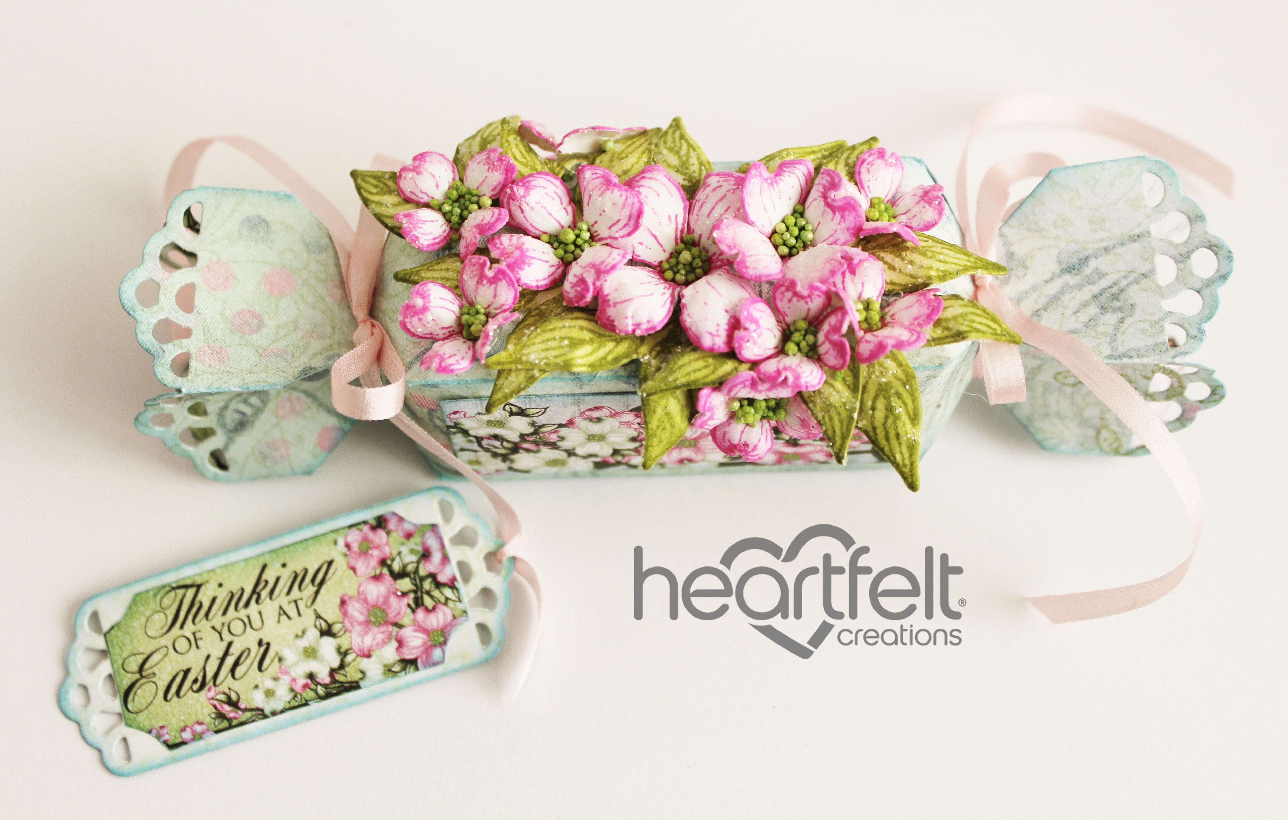 Gallery   Pink Dogwood Easter Treat Box - Heartfelt Creations