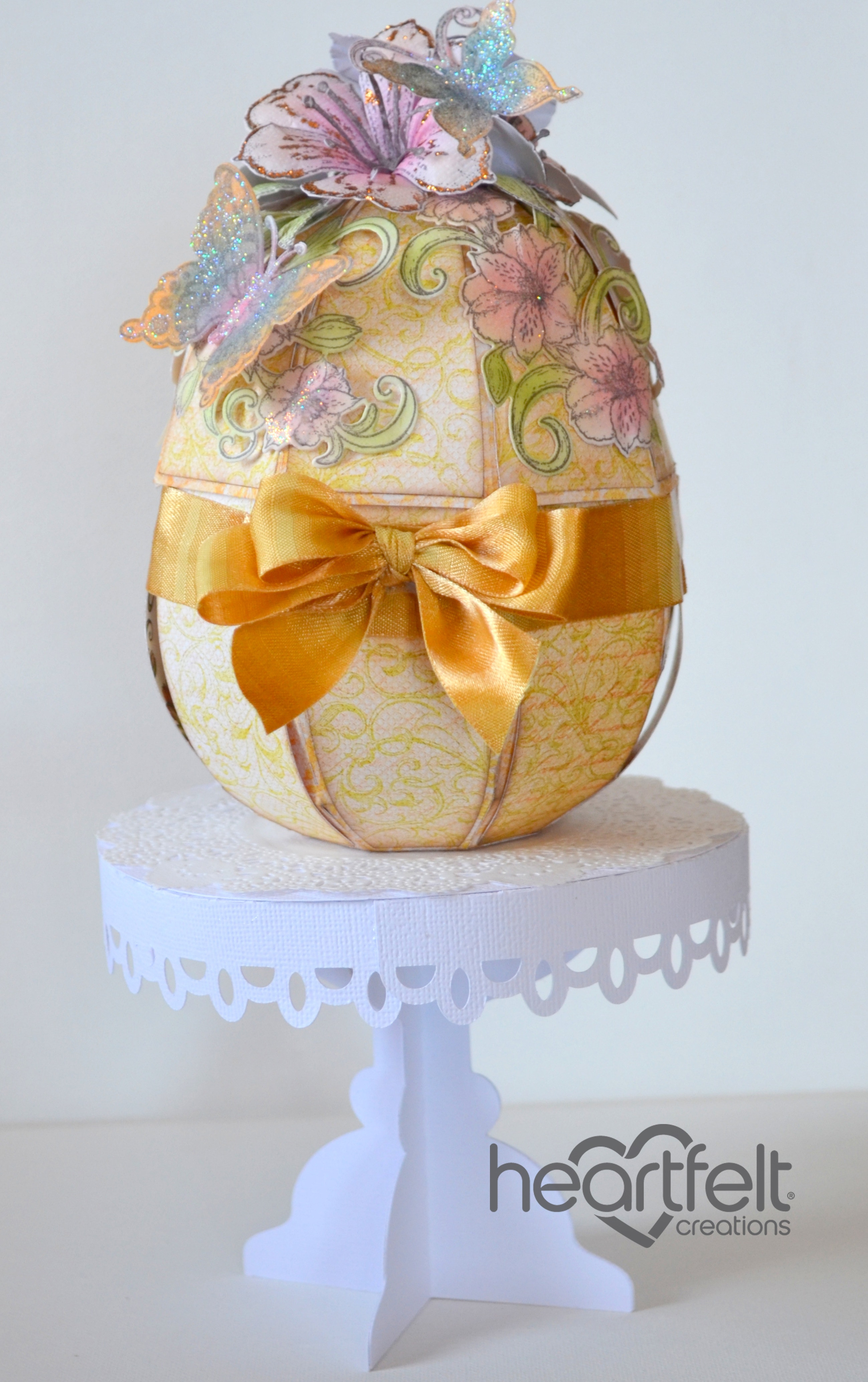 Gallery sunrise lily easter egg gift box heartfelt creations using an electronic die cutting machine cut out egg and pedestal base using white card stock assemble according to cutting file instructions negle Image collections