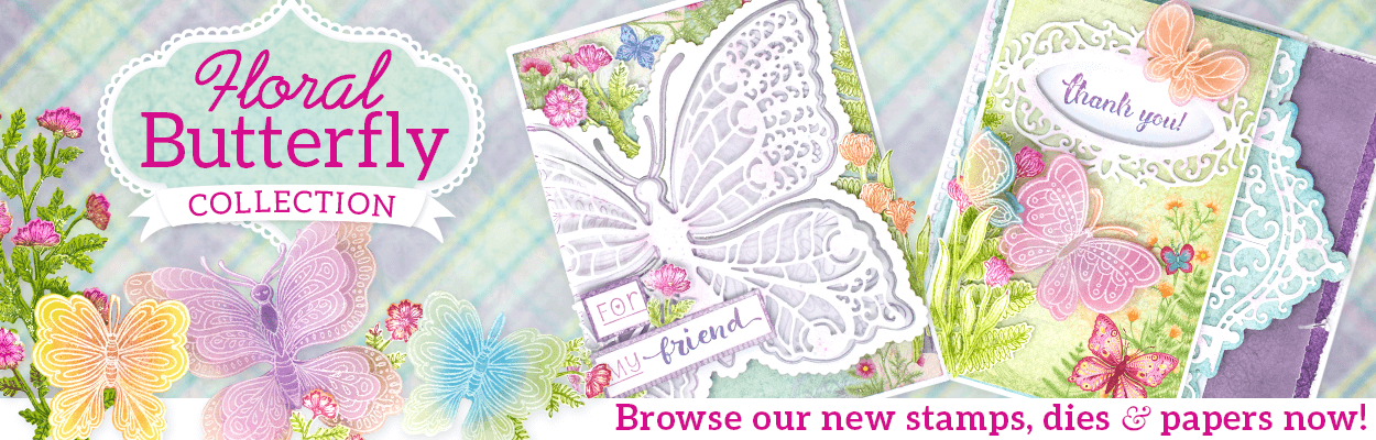 Floral Butterfly Homepage Banner