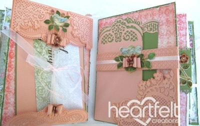 Tattered Pink Roses Flip Fold Album