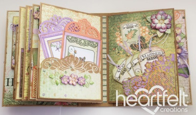 Multi-Color Botanical Rose Flip Fold Album