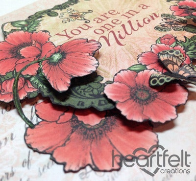 Red Poppies And Butterflies