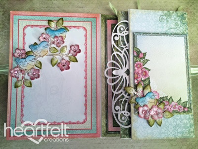 Birds And Pink Blooms Fiip Fold Album