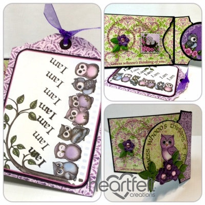 Owl Flip Fold Tag Card Holder