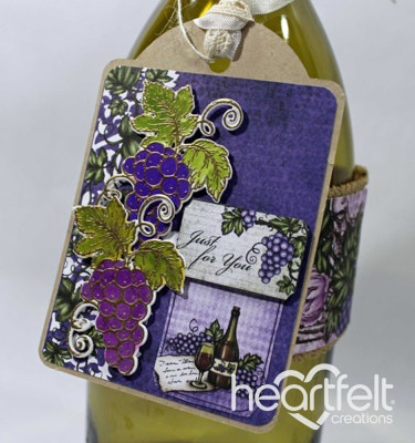 Just For You Wine Bottle Tag