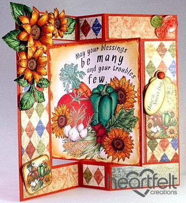 Veggies And Sunflowers Flip Card
