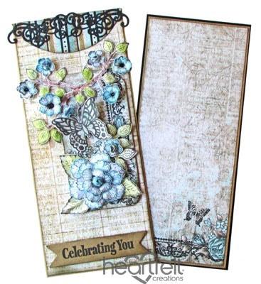 Birds And Blooms Envelope Gift Card Holder