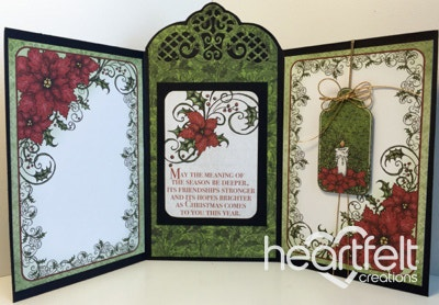 Blessed Christmas Tri-Fold Card