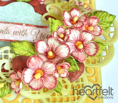 Blooming Berries Easel Card