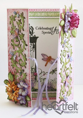 Dragonflies Vines With Mums Gate Fold