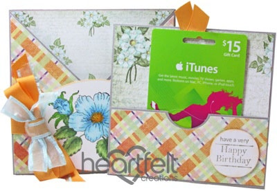 Botanical Rose Gift Card Holder