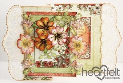Bouquet Of Lilies Z Fold Card