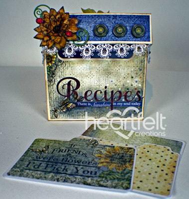 Sunflower Recipe Box