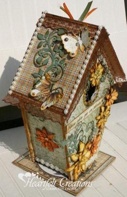 Sunflower Blooming Birdhouse