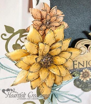 Sunflower Chalkboard Easel