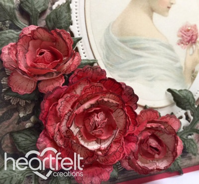 Cameo Card With Red Roses