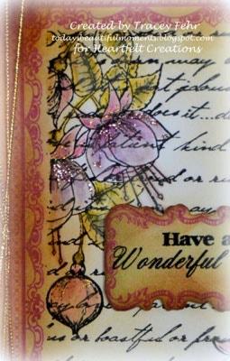 Vintage Fuchsia Card