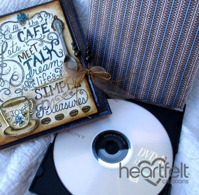 Coffee Talk Altered CD Holder