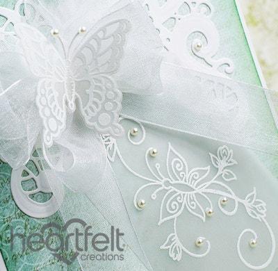 White Butterfly Swirls