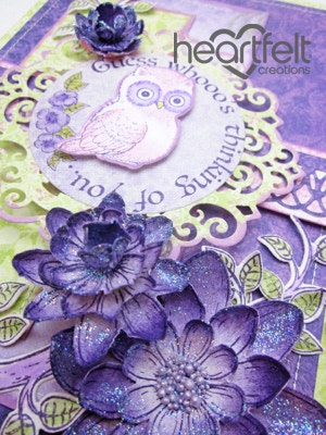 Purple Owl Thinking Of You