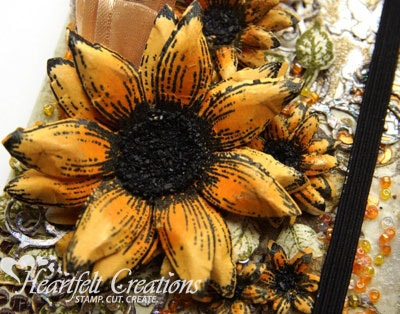 Sunflowers Altered Book