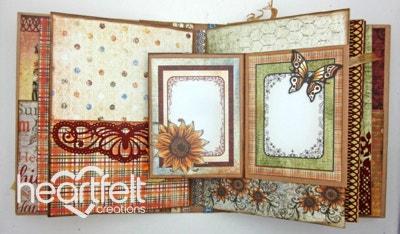 Sunflowers And Butterflies Flip Fold Album