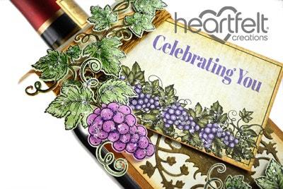 Celebrating Grape Cluster Wine Tag