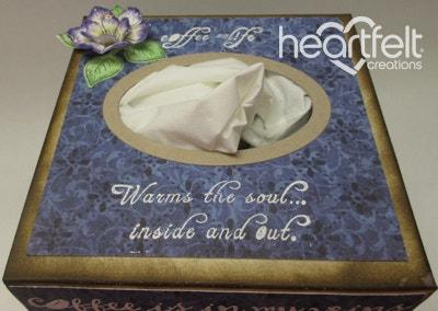 Coffee Talk Tissue Box Cover