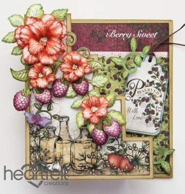 Raspberries And Flowers