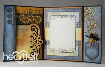 Sunflower Flip Fold Card