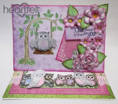 Swinging Owl Easel Card