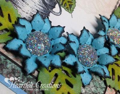 Blue Gear Flowers