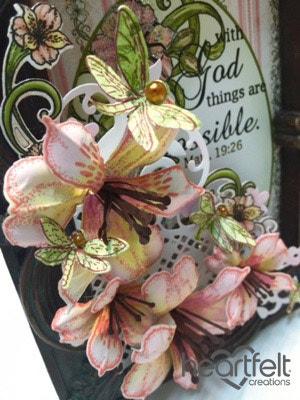 Pink Lily Decorative Frame