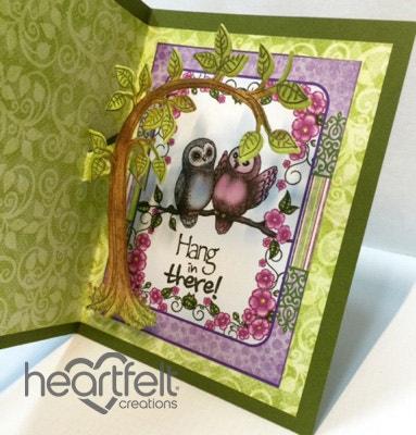 Purple Owl Pop Up Card