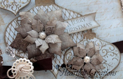 Blue Poinsettia Ornaments