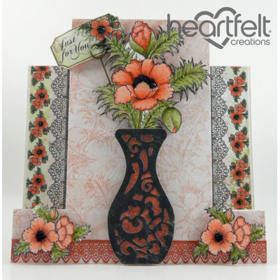 Poppy Bouquet Step Card
