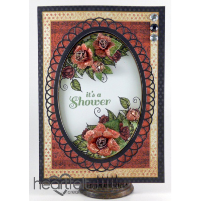 Botanical Floral Oval Shower Card