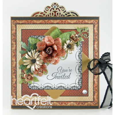 Floral Wedding Invitation Flip Fold