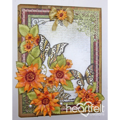 Sunflowers And Butterflies Flip Fold Album
