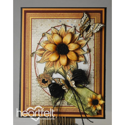 Sunflowers Flip Fold Card