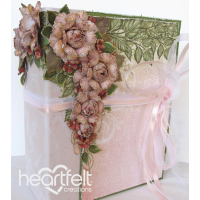 Tattered pink Roses Flip Fold Album