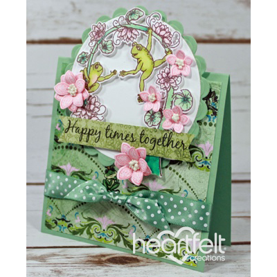 Happy Frogs Tent Topper Card