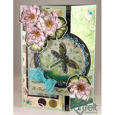 Pink Lily Shaker Card
