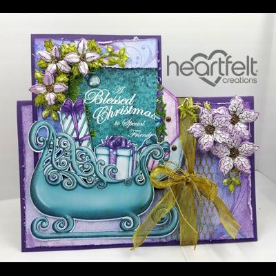 Lavender Poinsettias And Sleigh
